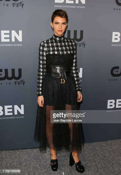 Ruby Rose attends The CW's Summer 2019 TCA Party sponsored by Branded Entertainment Network at The Beverly Hilton Hotel on August 04 2019 in Beverly...