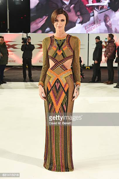 Ruby Rose attends the European Premiere of xXx Return of Xander Cage' at The Cineworld O2 Arena on January 10 2017 in London United Kingdom