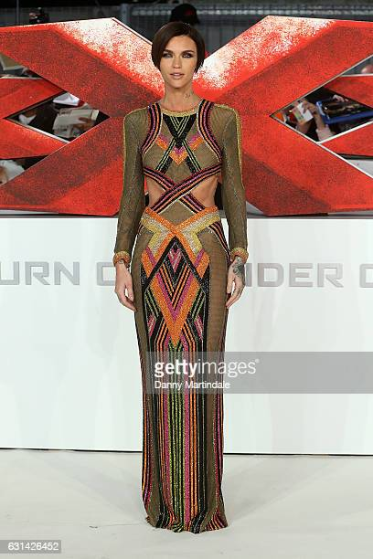 Ruby Rose attends the European premiere of 'xXx Return of Xander Cage' on January 10 2017 in London United Kingdom
