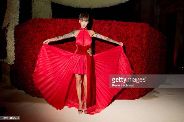 Ruby Rose attends the Heavenly Bodies Fashion The Catholic Imagination Costume Institute Gala at The Metropolitan Museum of Art on May 7 2018 in New...