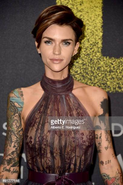Ruby Rose attends the premiere of Universal Pictures' Pitch Perfect 3 at Dolby Theatre on December 12 2017 in Hollywood California