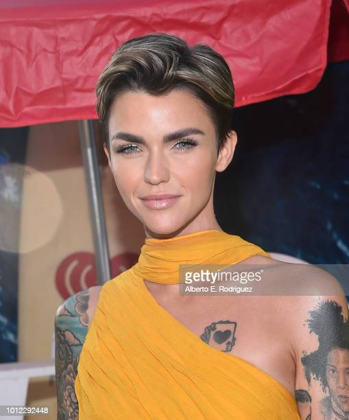 Ruby Rose attends the premiere of Warner Bros Pictures And Gravity Pictures' The Meg at TCL Chinese Theatre IMAX on August 6 2018 in Hollywood...