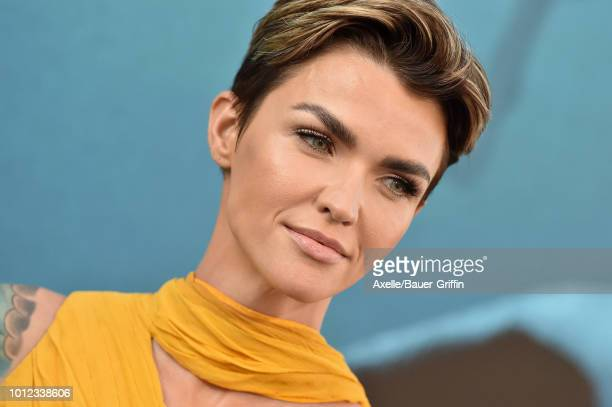 Ruby Rose attends the premiere of Warner Bros Pictures and Gravity Pictures' 'The Meg' at TCL Chinese Theatre IMAX on August 6 2018 in Hollywood...