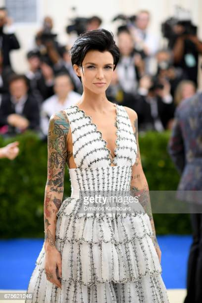Ruby Rose attends the Rei Kawakubo/Comme des Garcons Art Of The InBetween Costume Institute Gala at Metropolitan Museum of Art on May 1 2017 in New...