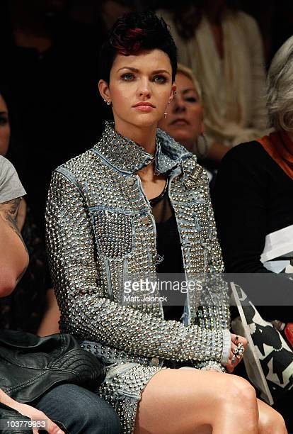 Ruby Rose is seen during the Designer Series Show 3 catwalk show as part of Melbourne Spring Fashion Week at Town Hall on September 2 2010 in...