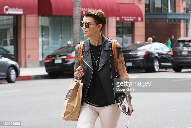 Ruby Rose is seen on July 09 2015 in Los Angeles California
