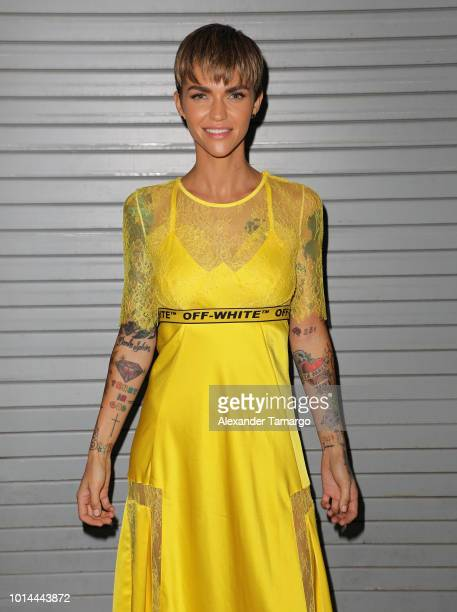 Ruby Rose is seen on the set of Despierta America at Univision Studios to promote the film The MEG on August 10 2018 in Miami Florida