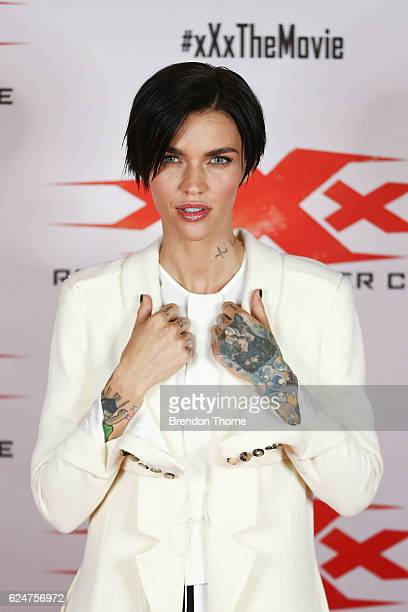 Ruby Rose poses at the xXx 'Return Of Xander Cage' Sydney Fan Event on November 19 2016 in Sydney Australia
