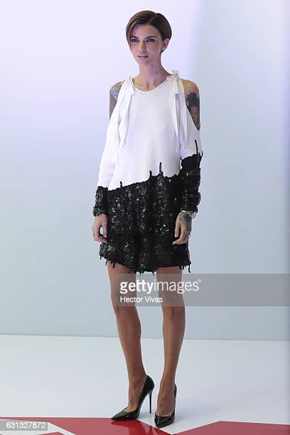 Ruby Rose poses during XXX Return of Xander Cage Mexico Photocall at St Regis Hotel on January 05 2017 in Mexico City Mexico