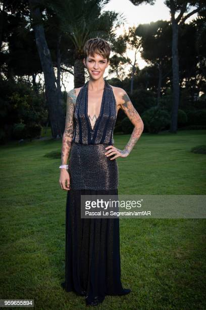 Ruby Rose poses for portraits at the amfAR Gala Cannes 2018 cocktail at Hotel du CapEdenRoc on May 17 2018 in Cap d'Antibes France