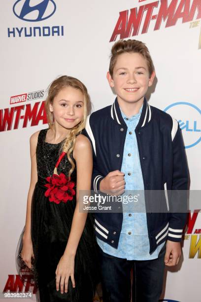 Ruby Rose Turner and Dakota Lotus attend the Los Angeles Global Premiere for Marvel Studios' AntMan And The Wasp at the El Capitan Theatre on June 25...