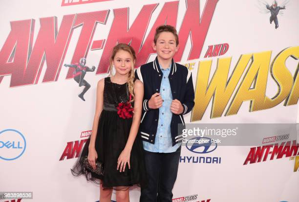 Ruby Rose Turner and Dakota Lotus attend the premiere of Disney And Marvel's AntMan And The Wasp on June 25 2018 in Los Angeles California
