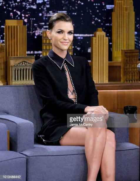 Ruby Rose visits 'The Tonight Show Starring Jimmy Fallon' at Rockefeller Center on August 8 2018 in New York City