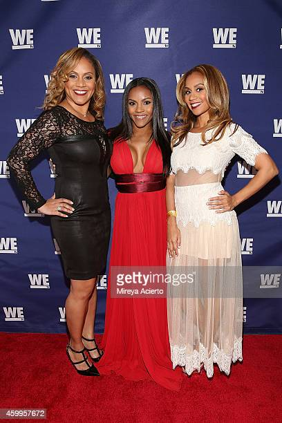 Ruby Rucker Ellen Rucker Carter and Ione Rucker attend SWV Love Thy Sister and Match Made In Heaven red carpet event at 54 Below on December 4 2014...