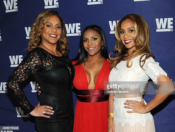 Ruby Rucker Ellen Rucker Carter and Ione Rucker attend 'SWV' 'Love Thy Sister' and 'Match Made In Heaven' red carpet event at 54 Below on December 4...