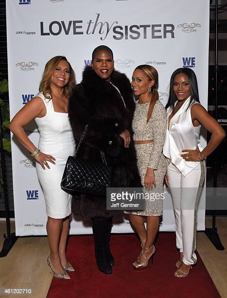 Ruby Rucker Miss Lawrence Washington Ione Rucker and Ellen Rucker Carter of the reality show Love Thy Sister on WE tv pose for a photo during the...