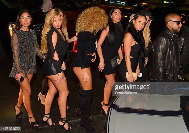 Ruby Sayed Ashley Martelle AB Lenna Sayed Cat Kinky and Michael 'Taz' Williams of Taz's Angels attends Gold Room on October 6 2014 in Atlanta Georgia