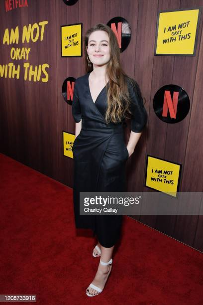 Ruby Serkis attends the premiere of Netflix's I Am Not Okay With This at The London West Hollywood on February 25 2020 in West Hollywood California