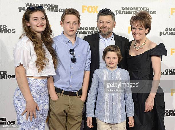 Ruby Serkis Sonny Serkis Andy Serkis Louis Serkis and Lorraine Ashbourne attend the 'Dawn of the Planet of the Apes' premiere at Capitol Cinema on...