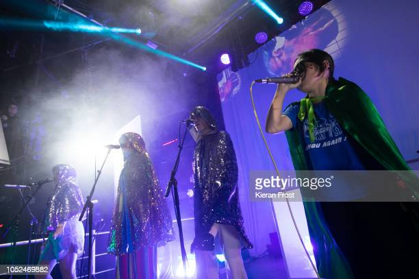 B Ruby Soul and Orono Noguchi of Superorganism perform at The Academy on October 18 2018 in Dublin Ireland