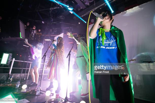 B Ruby Soul Orono Noguchi of Superorganism perform at The Academy on October 18 2018 in Dublin Ireland