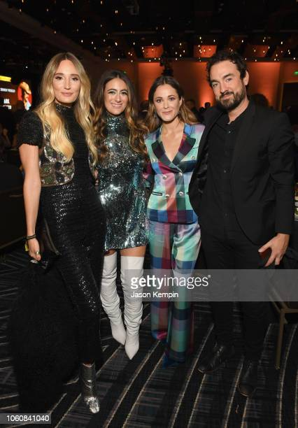 Ruby Stewart and Alyssa Bonagura of musical duo The Sisterhood Jillian Jacqueline and Bryan Brown pose during the 56th Annual ASCAP Country Music...
