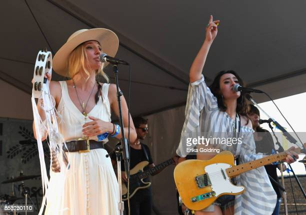 Ruby Stewart and Alyssa Bonagura perform at Pilgrimage Music Cultural Festival on September 24 2017 in Franklin Tennessee