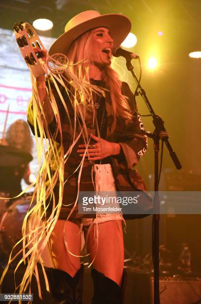 Ruby Stewart of The Sisterhood performs during the Budweiser showcase at Fair Market on March 15 2018 in Austin Texas
