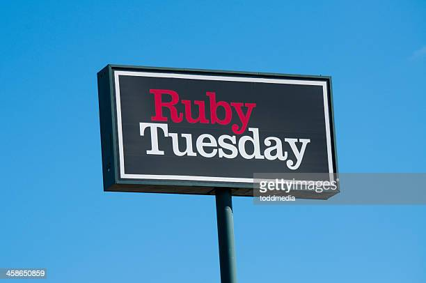 ruby tuesday sign - tuesday stock photos and pictures