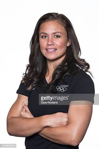 Ruby Tui during the New Zealand Olympic Games Rugby Sevens Team Announcement at Eden Park on July 3 2016 in Auckland New Zealand