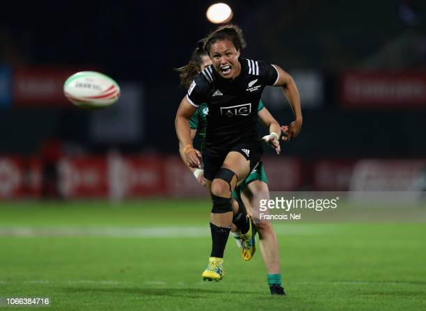 Ruby Tui of New Zealand in action on day one of the Emirates Dubai Rugby Sevens HSBC World Rugby Sevens Series at The Sevens Stadium on November 29...