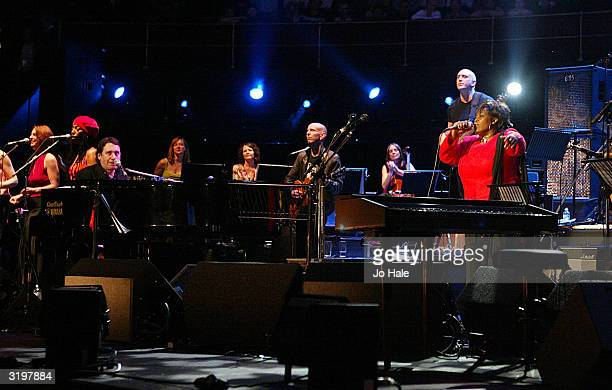 Ruby Turner performs on stage with Jools Holland during the fourth event as part of Roger Daltrey's annual series of Teenage Cancer Trust fundraising...