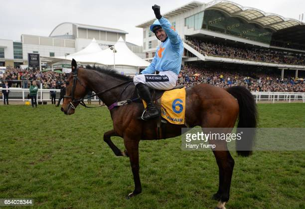 Ruby Walsh on board Un De Sceaux during St Patrick's Thursday of the Cheltenham Festival at Cheltenham Racecourse on March 16 2017 in Cheltenham...