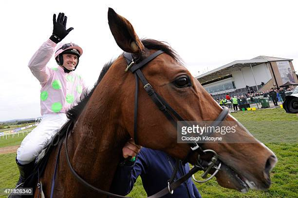 Ruby Walsh on Faugheen wins the Champion Hurdle at Punchestown Racecourse on May 1 2015 in Naas Ireland