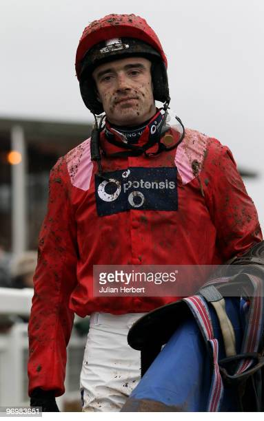 Ruby Walsh returns after riding Sanctuaire to victory in The Retired Greyhound Trust 'National Hunt' Novices Hurdle Race run at Taunton Racecourse on...