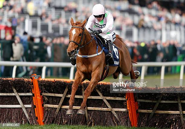 Ruby Walsh riding Annie Power clear the last to win The Doom Bar Aintree Hurdle at Aintree Racecourse on April 7 2016 in Liverpool England