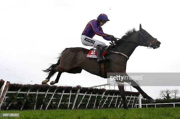 Ruby Walsh riding Arctic Fire clear the last to win The Bar One Racing Hatton's Grace Hurdle Race at Fairyhouse racecourse on November 29 2015 in...