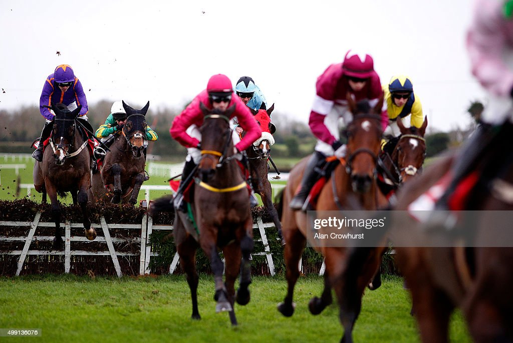 Ruby Walsh riding Arctic Fire (L) on their way to winning The Bar One Racing Hatton's Grace Hurdle Race at Fairyhouse racecourse on November 29, 2015 in Ratoath, Ireland.
