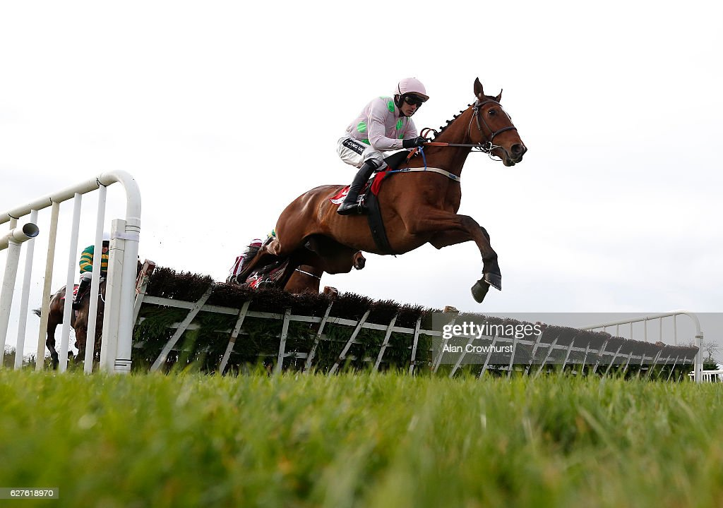 Ruby Walsh riding Bapaume in action at Fairyhouse racecourse on December 4, 2016 in Dublin.