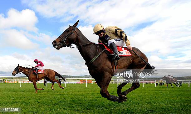 Ruby Walsh riding Boston Bob clear the last to win The Bibby Financial Services Ireland Punchestown Gold Cup from First Lieutenant at Punchestown...