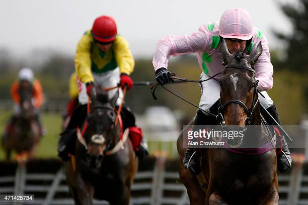 Ruby Walsh riding Douvan clear the last to win The Herald Champion Novice Hurdle at Punchestown racecourse on April 28 2015 in Naas Ireland