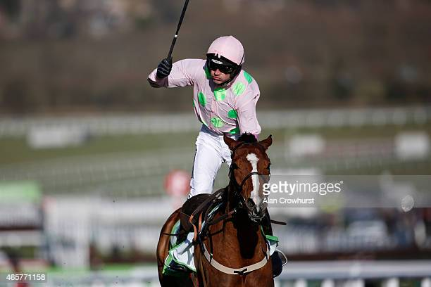 Ruby Walsh riding Faugheen clear the last to win The Stan James Champion Hurdle at Cheltenham racecourse on March 10 2015 in Cheltenham England