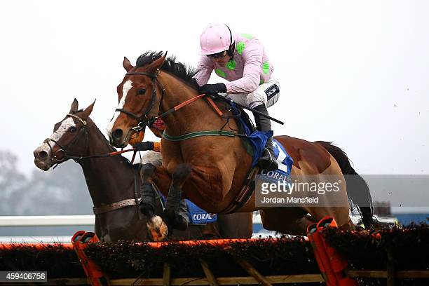 Ruby Walsh riding Faugheen clears the last to win The Coral Hurdle at Ascot Racecourse on November 22 2014 in Ascot England