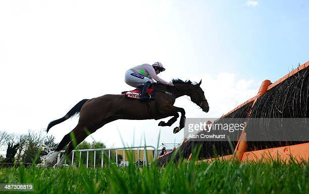 Ruby Walsh riding Faugheen win The Herald Champion Novice Hurdle at Punchestown racecourse on April 29 2014 in Naas Ireland