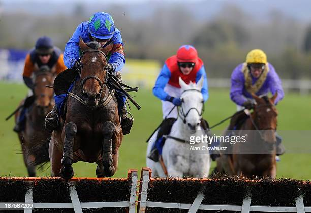 Ruby Walsh riding Hurricane Fly clear the last to win The Rabobank Champion Hurdle at Punchestown racecourse on April 26, 2013 in Naas, Ireland.