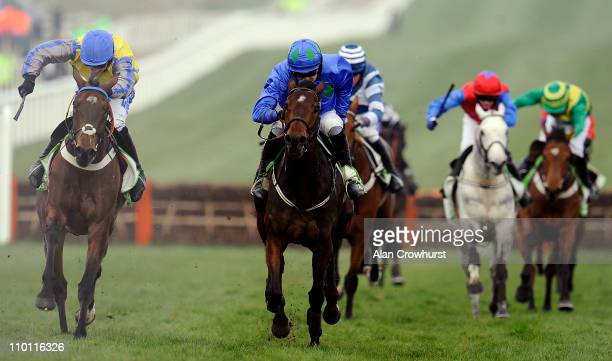 Ruby Walsh riding Hurricane Fly clear the last to win The Stan James Champion Hurdle Challenge Trophy from Peddlers Cross at Cheltenham racecourse on...
