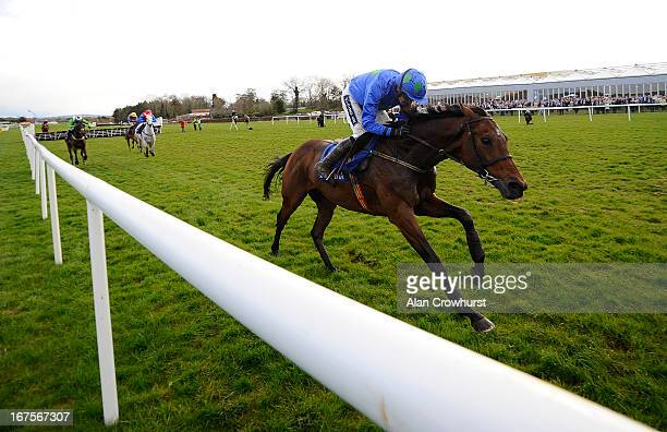Ruby Walsh riding Hurricane Fly pulls clear on the run-in to win The Rabobank Champion Hurdle at Punchestown racecourse on April 26, 2013 in Naas,...