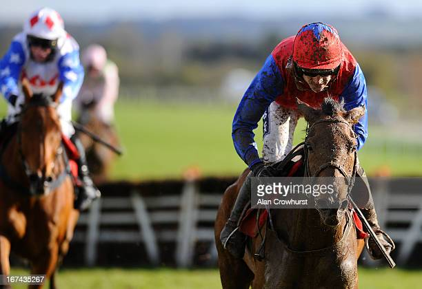 Ruby Walsh riding Quevega clear the last to win The Ladbrokes World Series Hurdle from Reve De Sivola at Punchestown racecourse on April 25 2013 in...