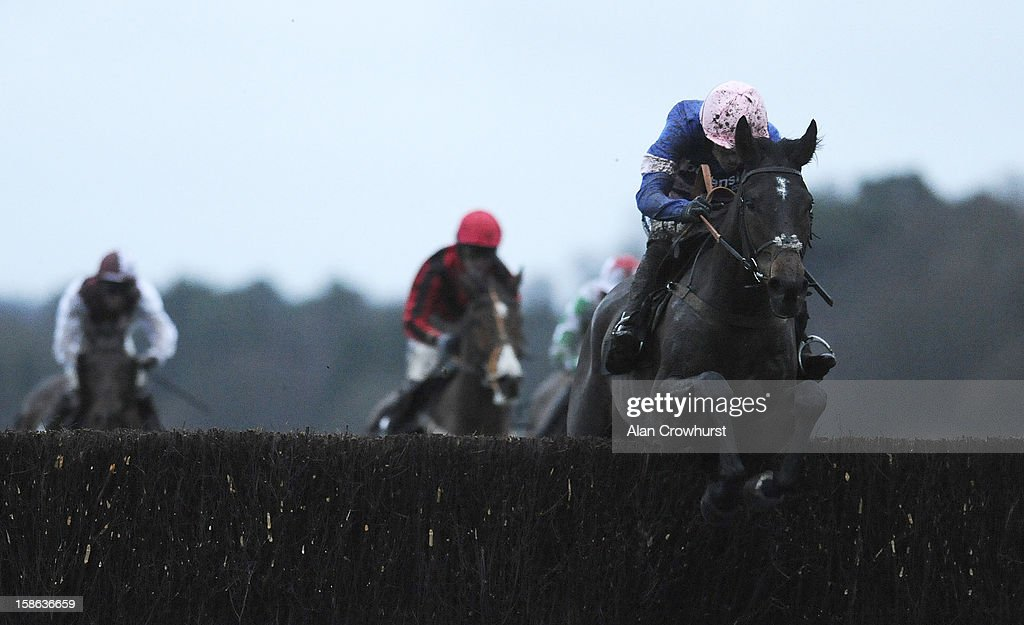 Ruby Walsh riding Ulck Du Lin clear the last to win The BGC Partners Handicap Steeple Chase at Ascot racecourse on December 22, 2012 in Ascot, England.