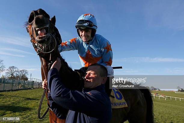 Ruby Walsh riding Un De Sceaux win The Ryanair Novice Chase at Punchestown racecourse on April 30 2015 in Naas Ireland